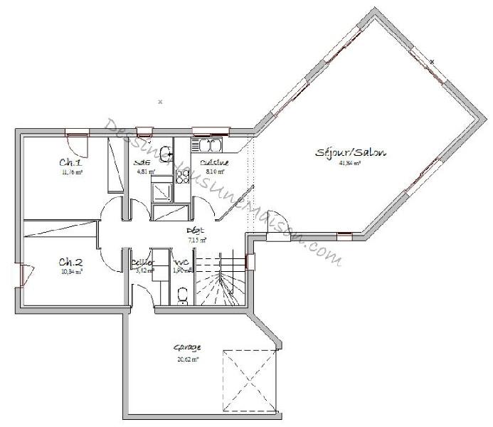 plan de maison d architecte contemporaine gratuit avie home. Black Bedroom Furniture Sets. Home Design Ideas