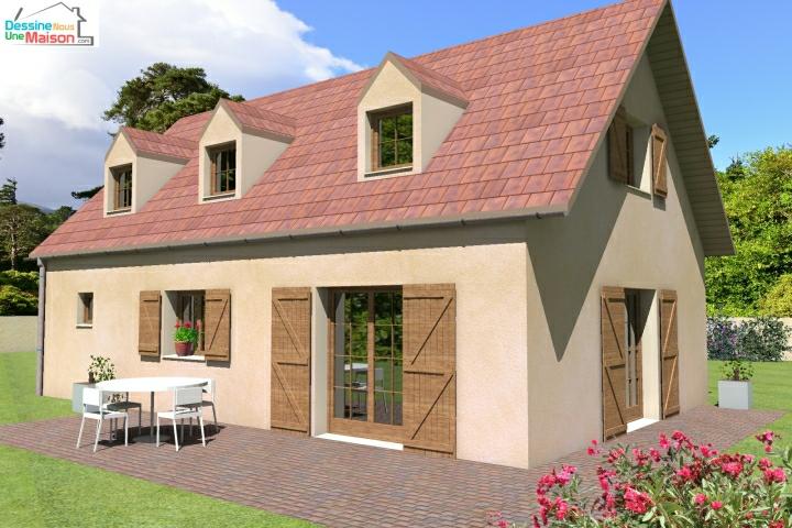 Plan De Maison Traditionnelle Gratuit Plan Maison Plain Pied 3 4 Ou 5 Chambres Dessinenousunemaison Com