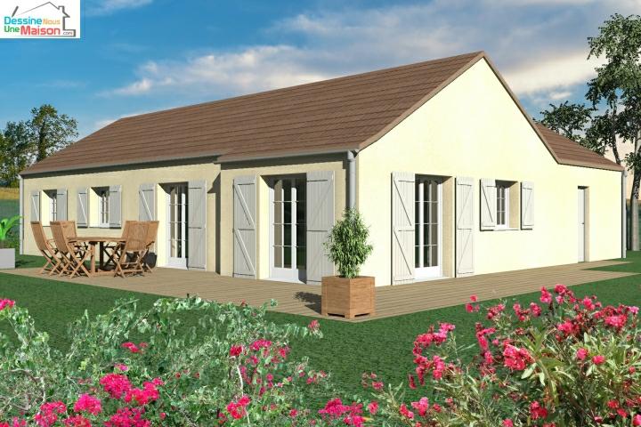 plans de maisons individuelles avec 3 chambres. Black Bedroom Furniture Sets. Home Design Ideas