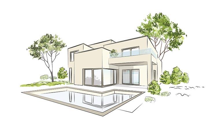 Déposer Un Permis De Construire Plan Maison Contemporaine